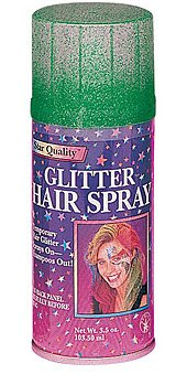 Glitter Hair Spray, Multiple Colors Available, Temporary Hair Glitter, Green