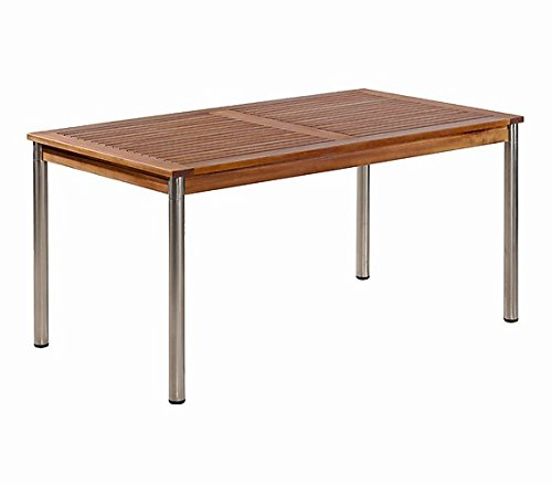 BALKE Gartentisch Singapur 150 x 85 cm, Akazienholz mit Edelstahl bestellen