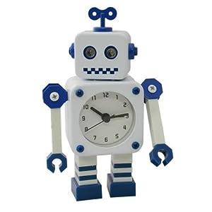 Childrens Bedside Robot Alarm Clock Kids Robot Clock