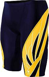 TYR  Men\'s Phoenix Splice Jammer Swimsuit (Navy/Gold, 34)