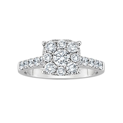 1 1/4 Ct. Tw. Diamond Engagement Ring In 14K White Gold (Size 5.0)