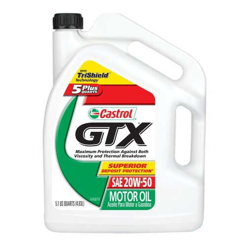 Castrol 03563 gtx 20w 50 conventional motor oil 5 1 for Case of motor oil prices