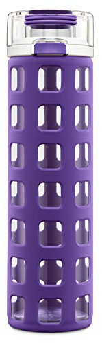 Ello Syndicate Glass Water Bottle with Flip Lid, 20 oz (Non Toxic Water Bottle compare prices)