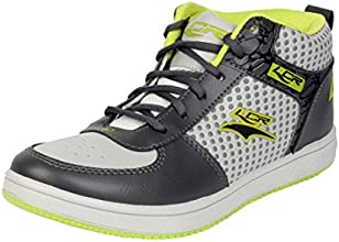 Lancer Men's Black and Green Synthetic Running Shoes (TS-4LGR-DGR-PGN-44) - (10 UK)
