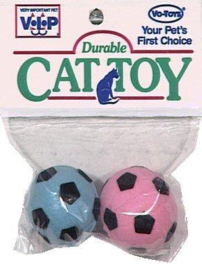 Vo-Toys Kitty Sponge Balls 2 pack Cat Toy