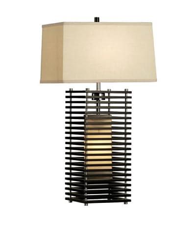 Nova Lighting Kimura Standing Table Lamp, Dark Brown/Silver