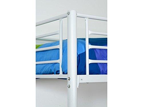 Perth Blanc - Lit Mezzanine 90x190cm + Matelas
