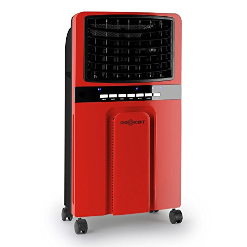 oneconcept baltic red mobile klimaanlage luftk hler klimager t mit luftreiniger und. Black Bedroom Furniture Sets. Home Design Ideas