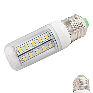 E27 Saving energy lighting LED Lamps 7w LED 220v LED warm white with style chip technology 36 SMD 5730 Super Bright LED Spotlight 680-720 lumen from DeQLight