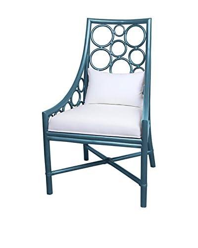 Jeffan Roman Side Chair, Metallic Blue