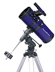 "Blue TwinStar 6"" Short Tube Reflector Telescope EQ Mount"
