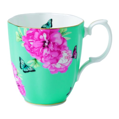 Royal Albert Friendship Vintage Mug Designed By Miranda Kerr, 13.5-Ounce, Turquoise