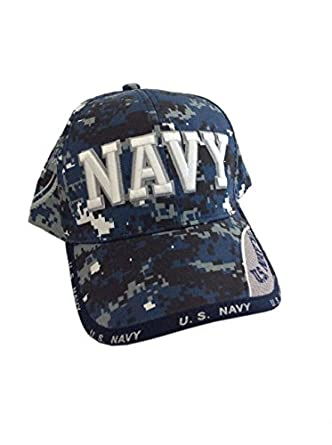 competitive price 90e9b 297d7 Amazon com Digital Pixel Camo Navy Text Cap Clothing