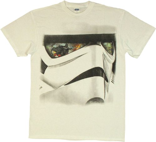 Star-Wars-Stormtrooper-Reflected-Face-Mens-White-T-shirt