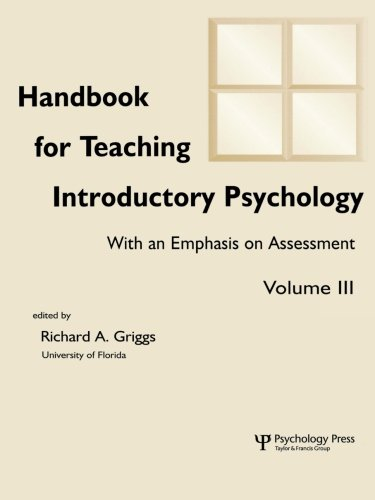 Handbook for Teaching Introductory Psychology, Vol. 3 (Volume 3)