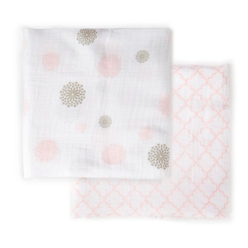 Fantastic Deal! JJ Cole Muslin Blankets, Primrose