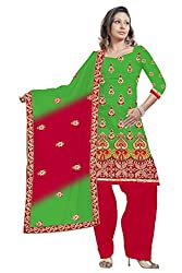 Vatsal Silk Mills Women Silk Dress Material (Vsm-9280 _Green)
