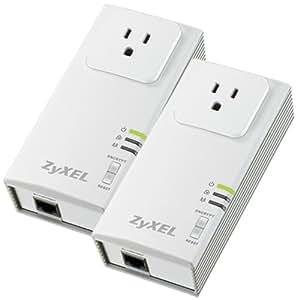 ZyXEL PLA407 HomePlug AV 200 Mbps Powerline Wall-Plug Adapter (Starter Kit - 2 Units)