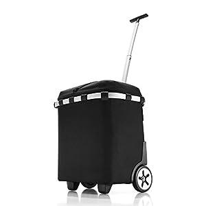 Reisenthel carrycruiser black ISO Cruiser Trolley Einkaufskorb mit Deckel und isolierendem Innenfutter schwarz - OJ7003