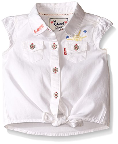 Levi's Baby Girls' Shirt, Star White, 6-9 Months