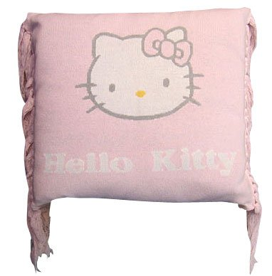 (Hello Kitty by ビクトリアクチュール) Pink Hello Kitty by Victoria Couture キティカシミア cushion