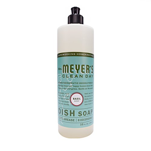 Mrs. Meyer's Dish Soap Basil, 16 Fluid Ounce (Pack of 3) (Meyers Dish Liquid compare prices)