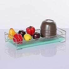 304 Stainless Steel Drip Basket Bowl Rack Multi-functional Drain Basket Storage-CZ12