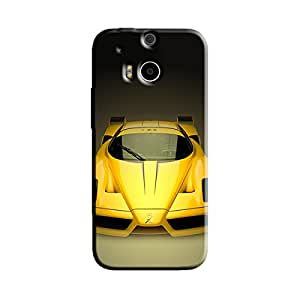 YELLOW CAR BACK COVER FOR HTC ONE M8