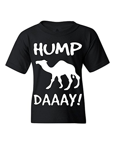 Camel Commercial HUMP DAY Youth's T-Shirt Funny Sayings Shirts Youth X-Large Black