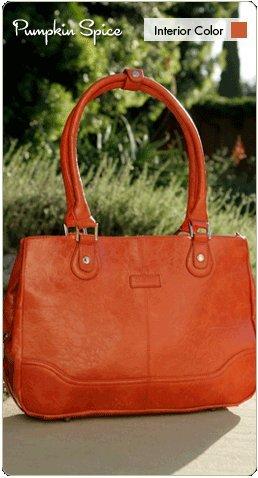 Namaste Pumpkin Spice Orange Monroe Handbag Shoulder Bag Tote from Namaste