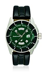 Fastrack Black Magic Analog Green Dial Mens Watch - NE3089SL03