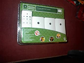 Holiday Time Wirelss Remote Control 3-Recievers Set with 1-Transmitter