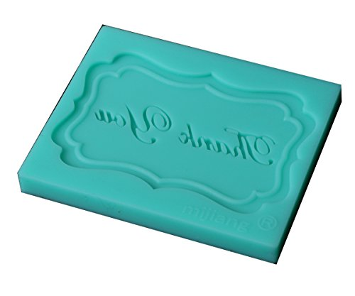 Genluna Thank You Silicone Oven Candy Making Moulds DIY Chocolate Mold Onesize Green