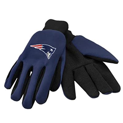 NFL New England Patriots Two Tone Utility Gloves, Black