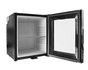 iceQ 24 Litre Deluxe Glass Door Black Mini Bar Fridge For Hotels, Bedrooms