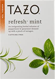 Tazo Tea, Refresh Mint, 20-Count (Package may vary)