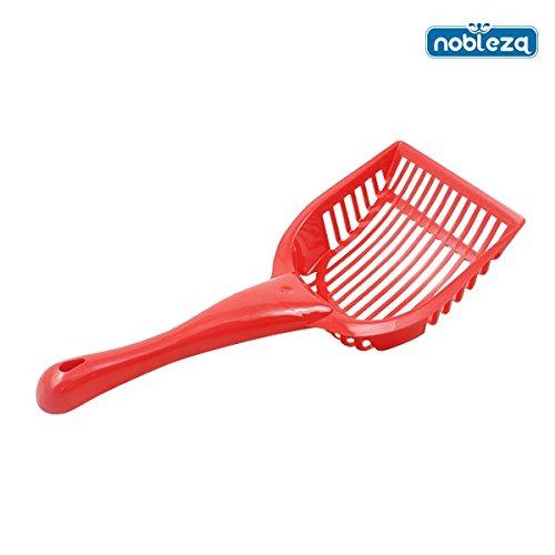 nobleza-020614-pala-para-limpiar-la-arena-de-gato-color-rojo-medidas-28-cm-x-14-cm-x-3-cm