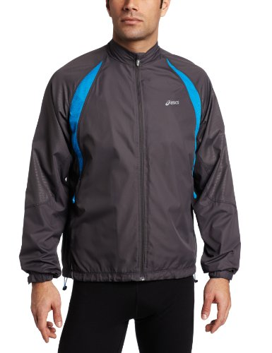 ASICS ASICS Men's Vertebrae Jacket, XX-Large, Steel/Ultra Blue