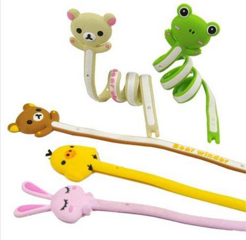 Niceeshop(Tm) Cute Cartoon Animal Cable Winder /Organizer Earphone Wire Wrap (Pink Rabbit, Yellow Poult, Brown Bears)