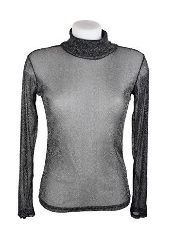 t-shirt-top-en-voile-brillant-paillete-noir