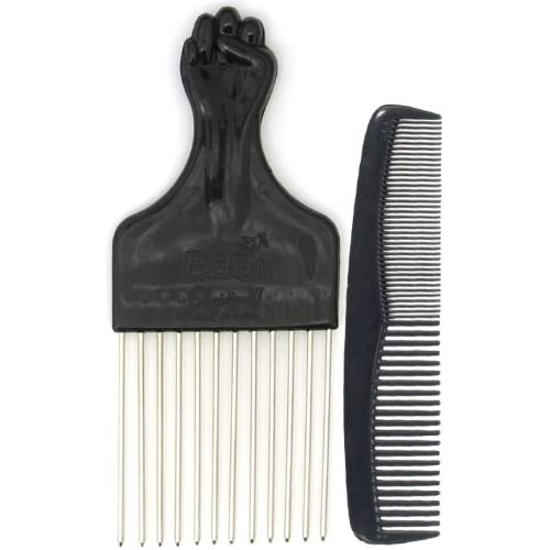 Amazon.com : Afro Hair Pick w/ Black Fist and Comb Set ... - photo#24