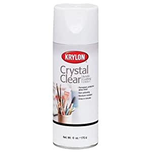 Krylon 6 Ounce Crystal Clear Acrylic Coating Aerosol Spray Arts And Crafts Spray Paint