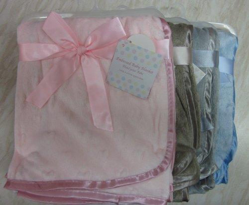 Plush Baby Blanket - Blue - 1