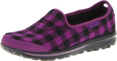 Skechers Women's Go Walk Sparky Slip-On Fashion Sneaker,Purple/Black,5 M US
