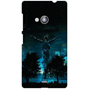 Nokia Lumia 535 Phone Cover - Blue Print Matte Finish Phone Cover