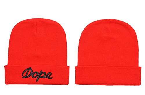 DOPE Knit Unisex Comfort Hip Hop Hat Red 1 One Size