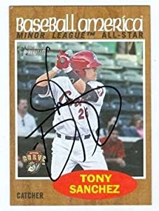 Tony Sanchez Autographed Hand Signed baseball card (Pittsburgh Pirates Altoona Curve)... by Hall of Fame Memorabilia