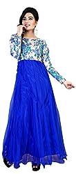 Anbazaar Blue Net Gown