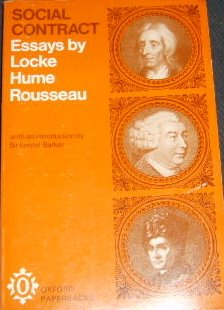 Social Contract: Essays by Locke, Hume, and Rousseau