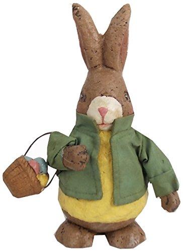 Craft Outlet Papier Mache Rabbit Figurine, 8-Inch